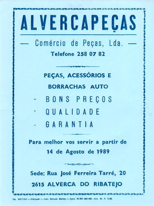 Novo portal da AlvercaPeças